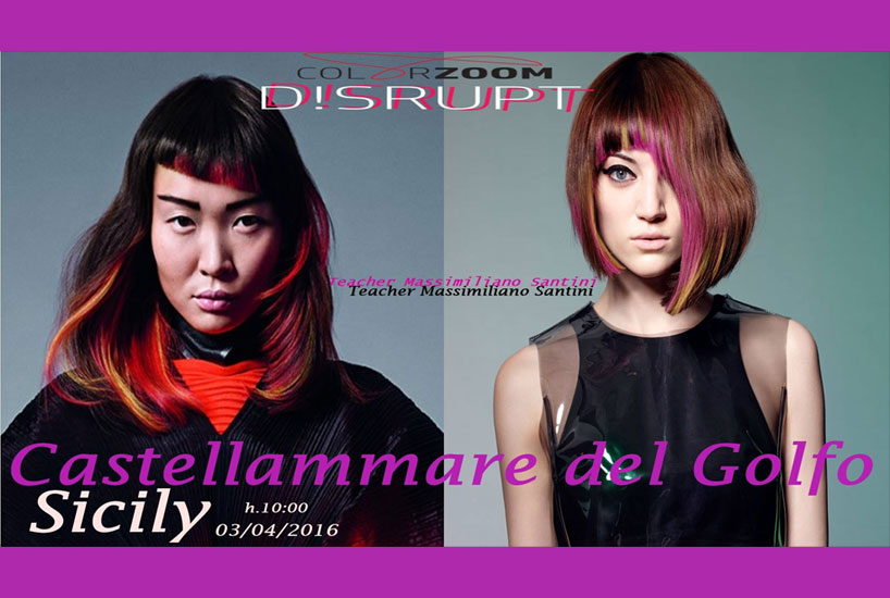 Goldwell Disrput Collection 2016 - Castellammare teaching by Maxim Lookmaker