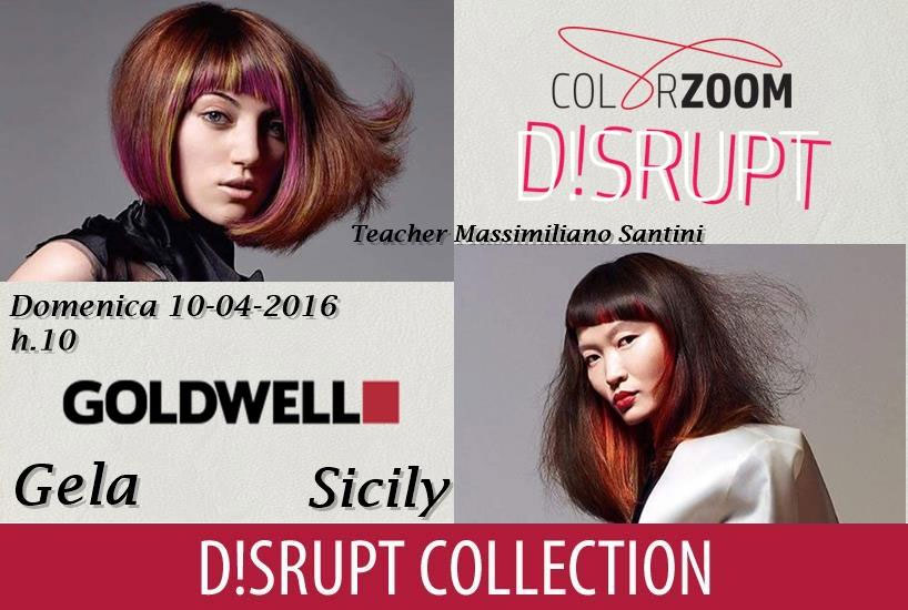 Goldwell Disrput Collection 2016 - Gela teaching by Maxim Lookmaker