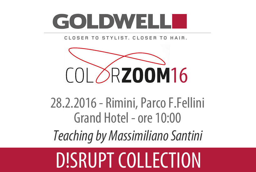 Goldwell Disrput Collection 2016 - Rimini teaching by Maxim lookmaker